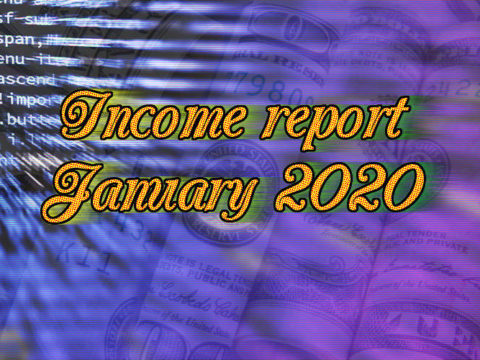 Blog income report January 2020